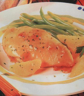 Pollo con salsa de cítricos