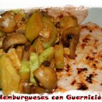 Hamburguesas de pavo y pollo con Guarnición