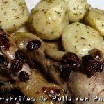 Jamoncitos de Pollo con Pasas y Patatas