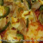 Pizza de Pollo y Pimientos al Queso