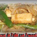 Tacos de pollo con pimientos