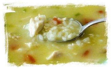 Sopa de arroz con pollo y verduras 2