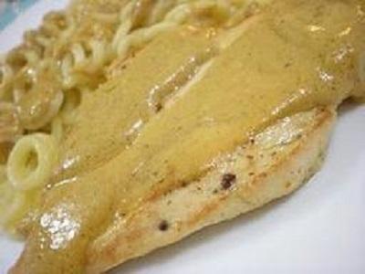 Pechuga de pollo a la mostaza (plato principal navidad)